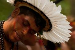 X JOGOS DOS POVOS INDíGENAS Os Jogos dos Povos IndÌgenas com participação de 1300 índios de 35 etnias, vindas de todas as regiıões do Brasil. Paragominas , Pará, Brasil. Foto Paulo Santos 03/11/2009