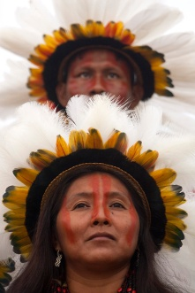 XI Jogos indígenas. Porto Nacional, Tocantins, Brasil. Foto Paulo Santos. 07/11/2011.