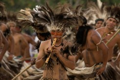 X JOGOS DOS POVOS INDÕGENAS Terena de Mato Grosso do Sul. X JOGOS DOS POVOS INDíGENAS Os Jogos dos Povos IndÌgenas com participação de 1300 índios de 35 etnias, vindas de todas as regiıões do Brasil. Paragominas , Pará, Brasil. Foto Paulo Santos 03/11/2009