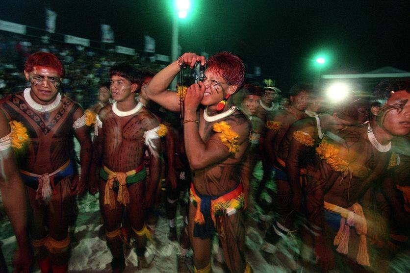 Xinguanos durante os jogos indígenas. Marudá, Pará, Brasil Paulo Santos/Interfoto 09/2002